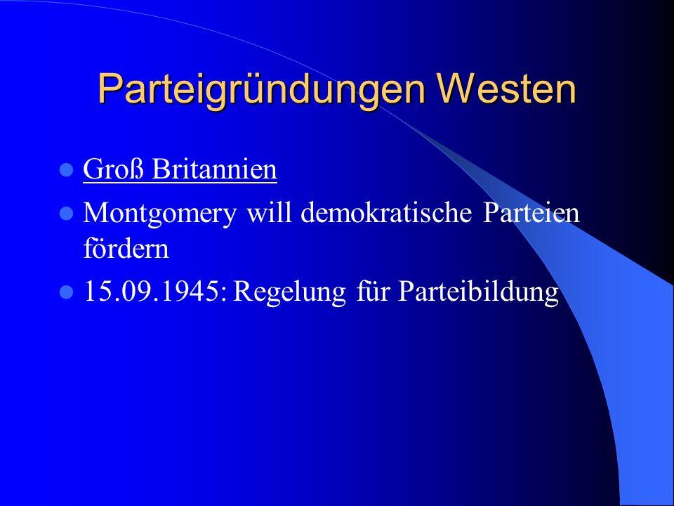 Parteigründungen Westen