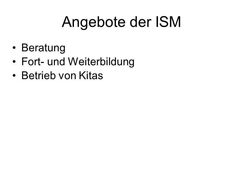 Angebote der ISM Beratung Fort- und Weiterbildung Betrieb von Kitas