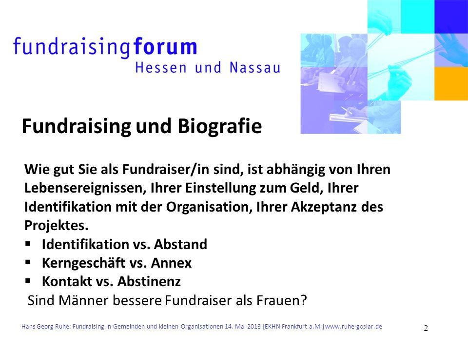 Fundraising und Biografie