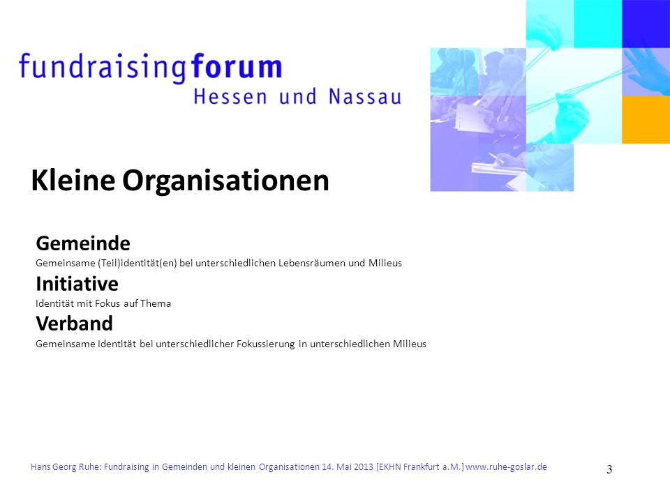 Kleine Organisationen