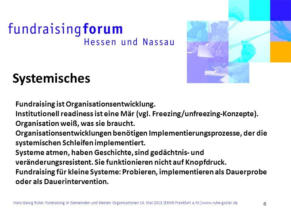 Systemisches Fundraising ist Organisationsentwicklung.