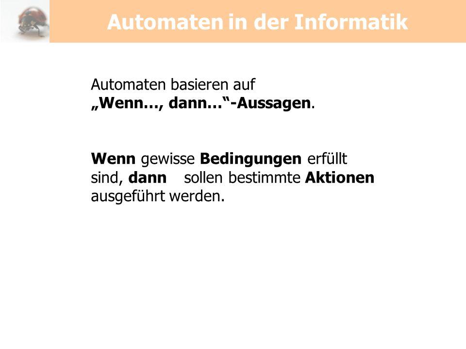 Automaten in der Informatik