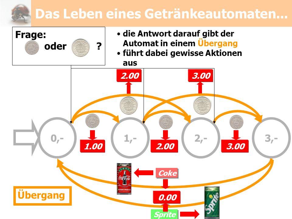 Das Leben eines Getränkeautomaten...