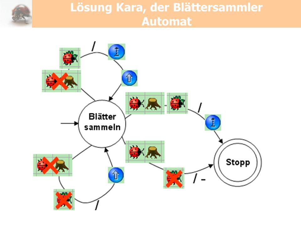 Lösung Kara, der Blättersammler Automat