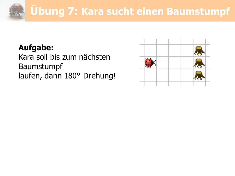 Übung 7: Kara sucht einen Baumstumpf