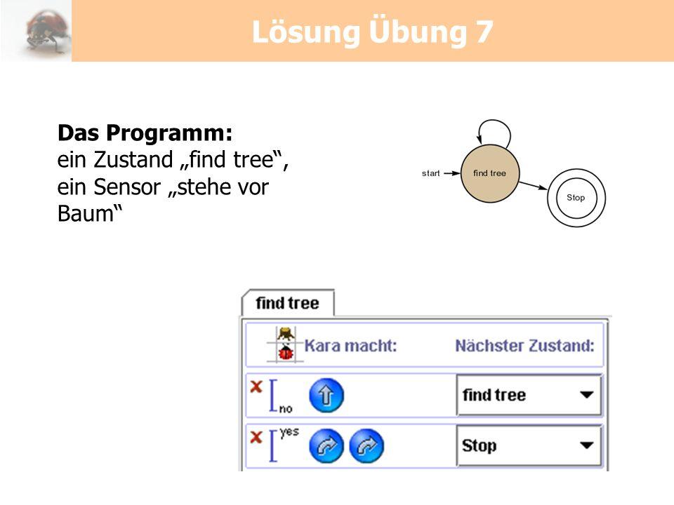 """Lösung Übung 7 Das Programm: ein Zustand """"find tree ,"""