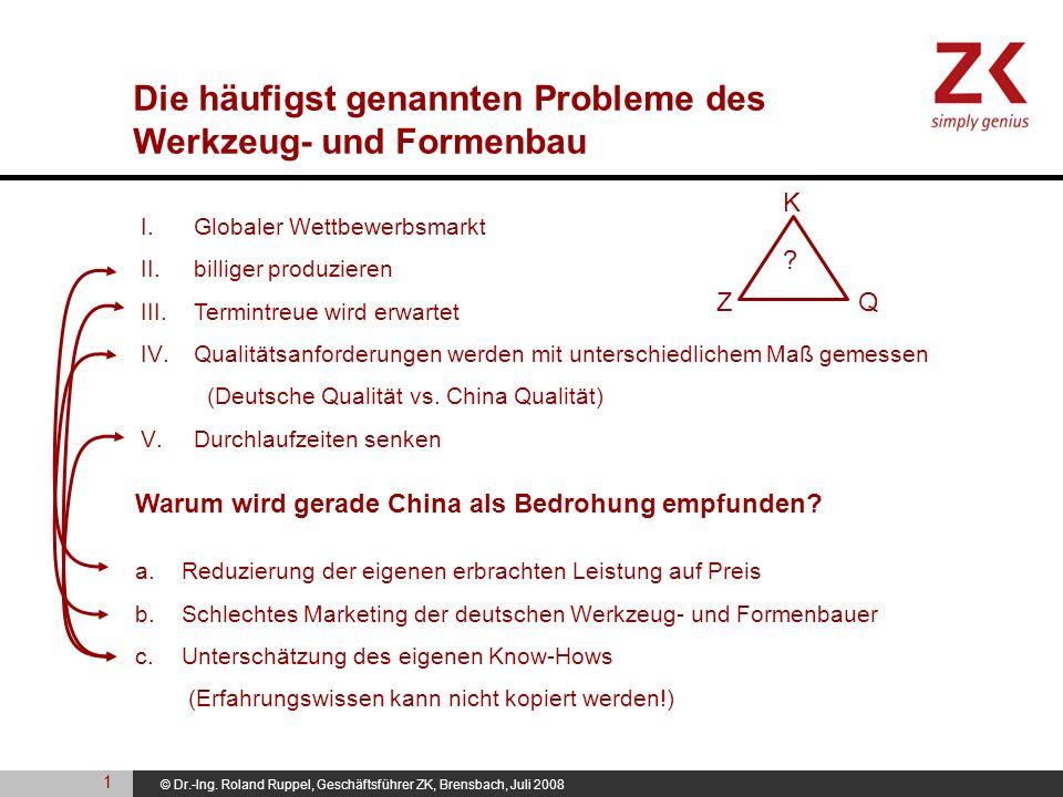Die häufigst genannten Probleme des Werkzeug- und Formenbau
