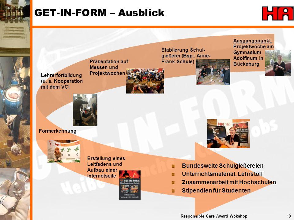 GET-IN-FORM – Ausblick