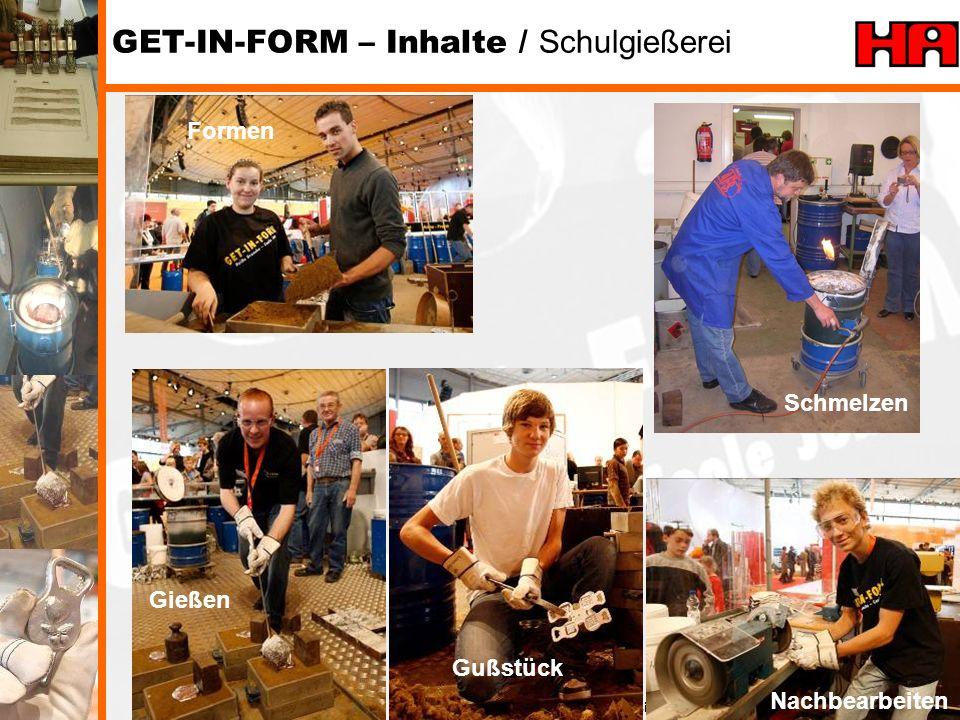 GET-IN-FORM – Inhalte / Schulgießerei