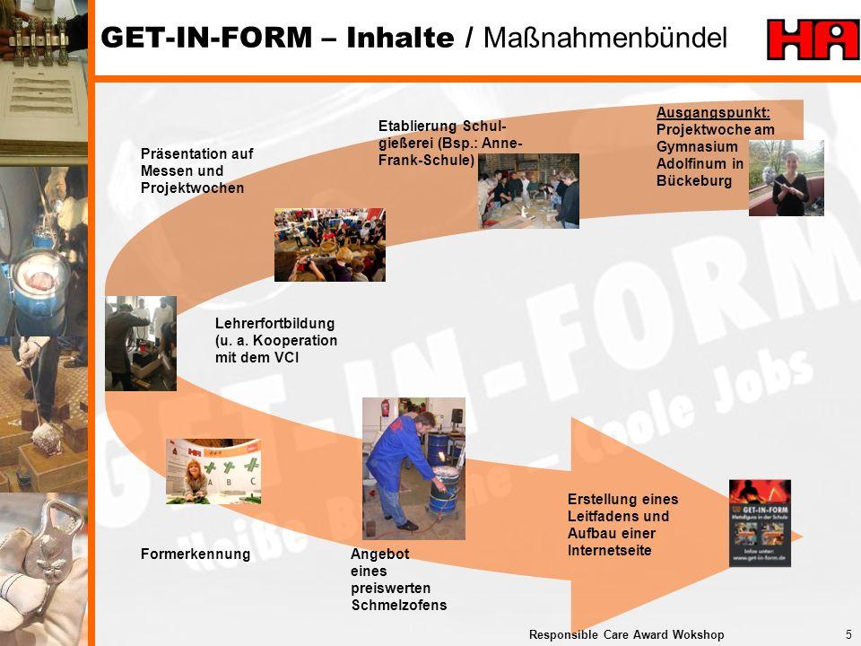 GET-IN-FORM – Inhalte / Maßnahmenbündel