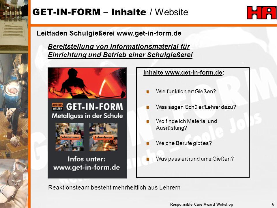 GET-IN-FORM – Inhalte / Website