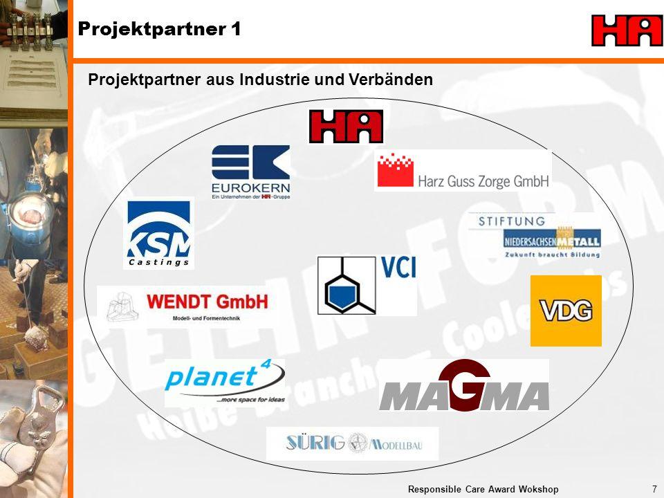 Projektpartner 1 Projektpartner aus Industrie und Verbänden