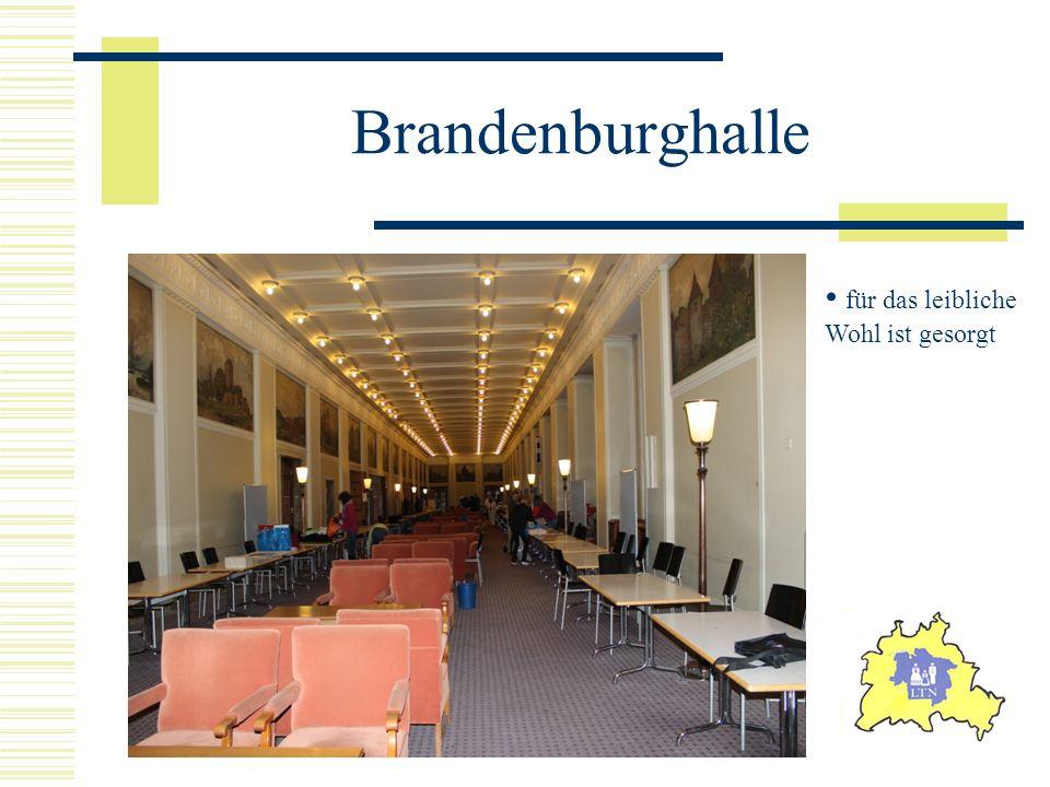 Brandenburghalle für das leibliche Wohl ist gesorgt