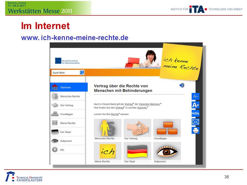 Im Internet www. ich-kenne-meine-rechte.de 36