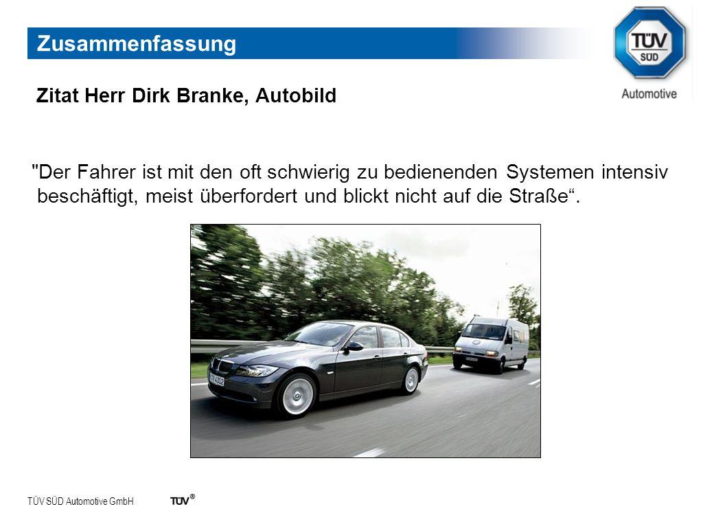 Zusammenfassung Zitat Herr Dirk Branke, Autobild