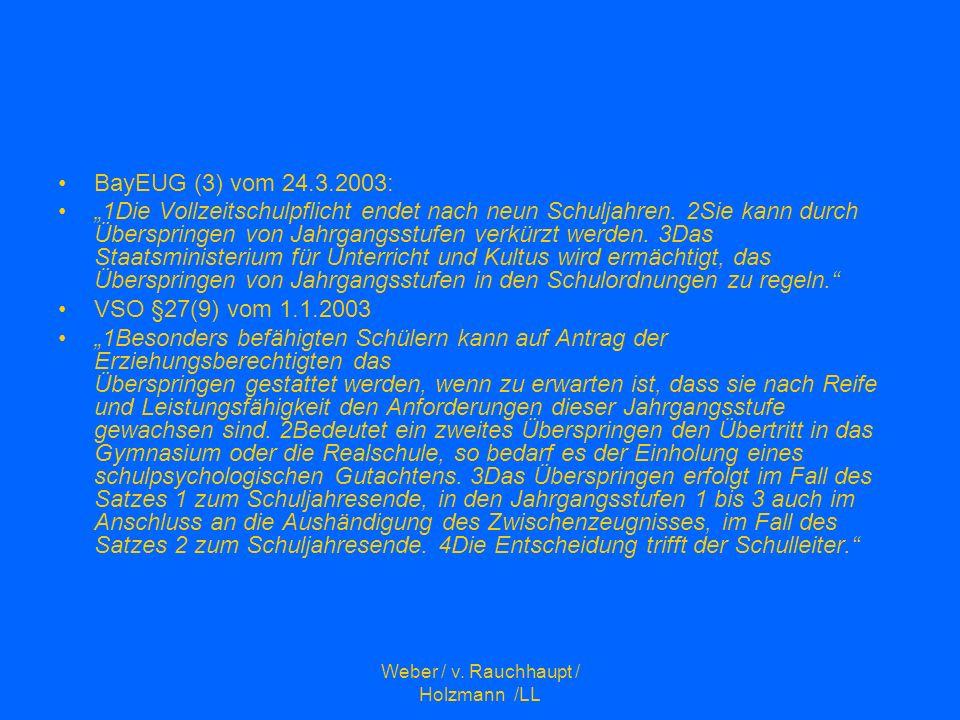 Weber / v. Rauchhaupt / Holzmann /LL