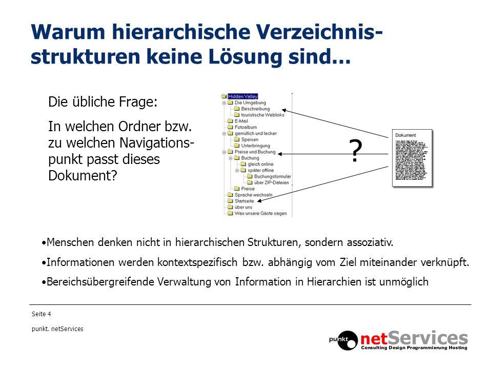 Warum hierarchische Verzeichnis-strukturen keine Lösung sind...