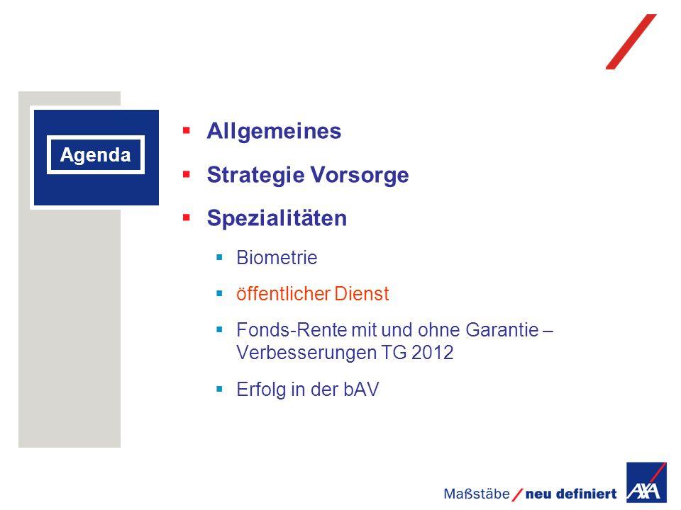Allgemeines Strategie Vorsorge Spezialitäten Agenda Biometrie