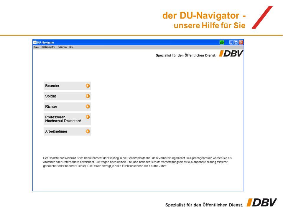 der DU-Navigator - unsere Hilfe für Sie