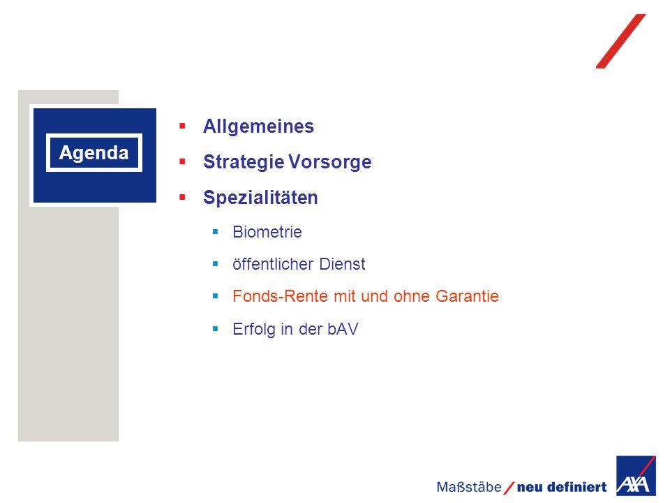 Allgemeines Strategie Vorsorge Agenda Spezialitäten Biometrie
