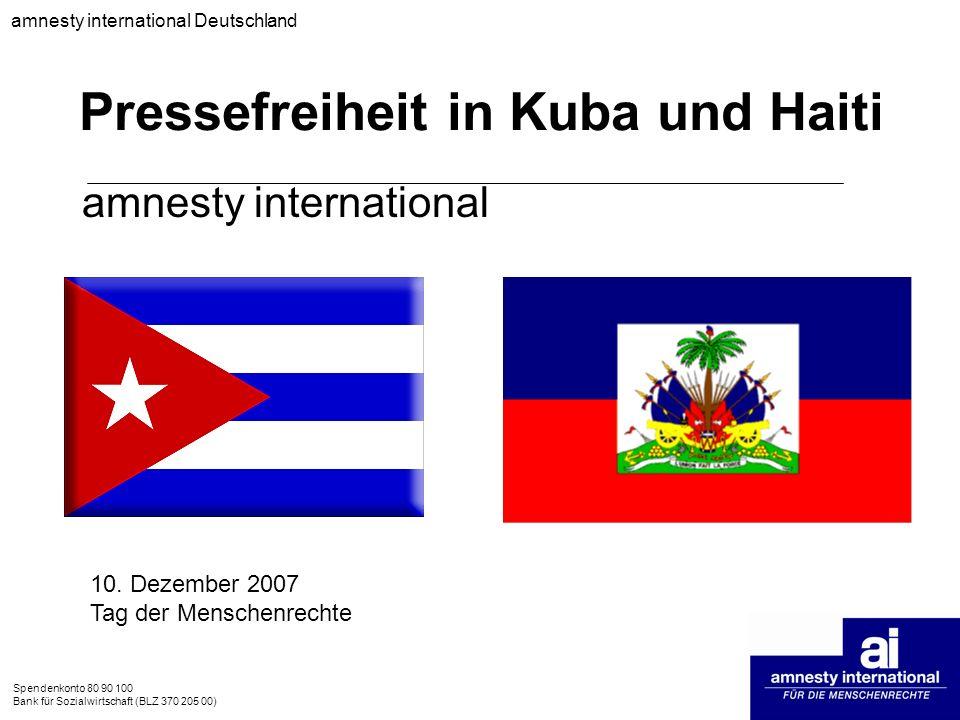 Pressefreiheit in Kuba und Haiti