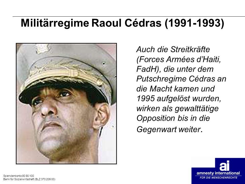 Militärregime Raoul Cédras (1991-1993)