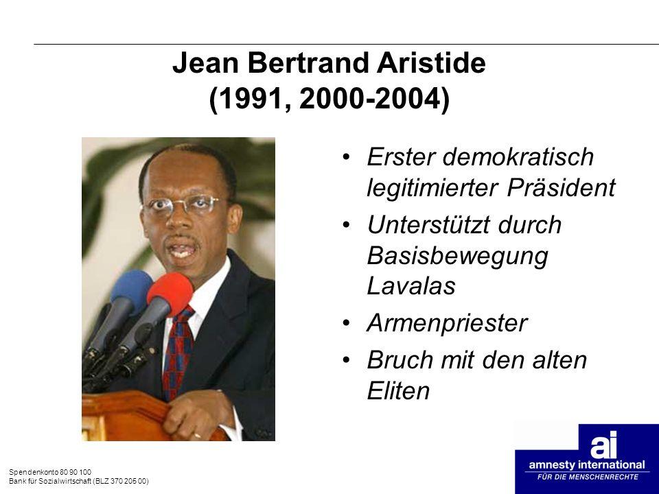 Jean Bertrand Aristide (1991, 2000-2004)