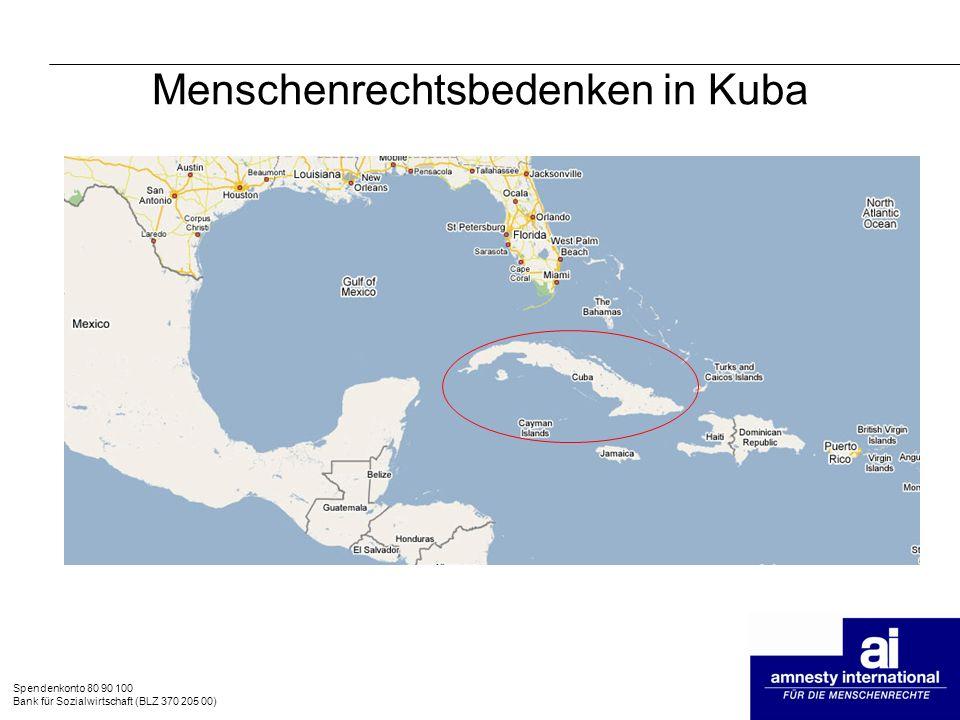 Menschenrechtsbedenken in Kuba