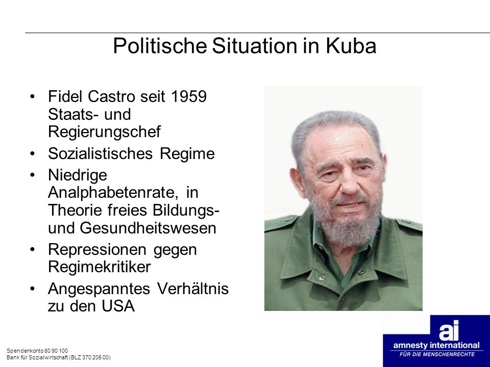 Politische Situation in Kuba