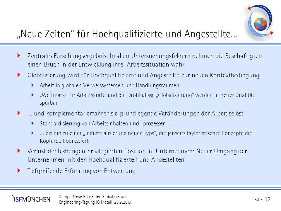"""""""Neue Zeiten für Hochqualifizierte und Angestellte…"""
