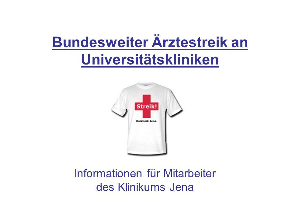 Bundesweiter Ärztestreik an Universitätskliniken