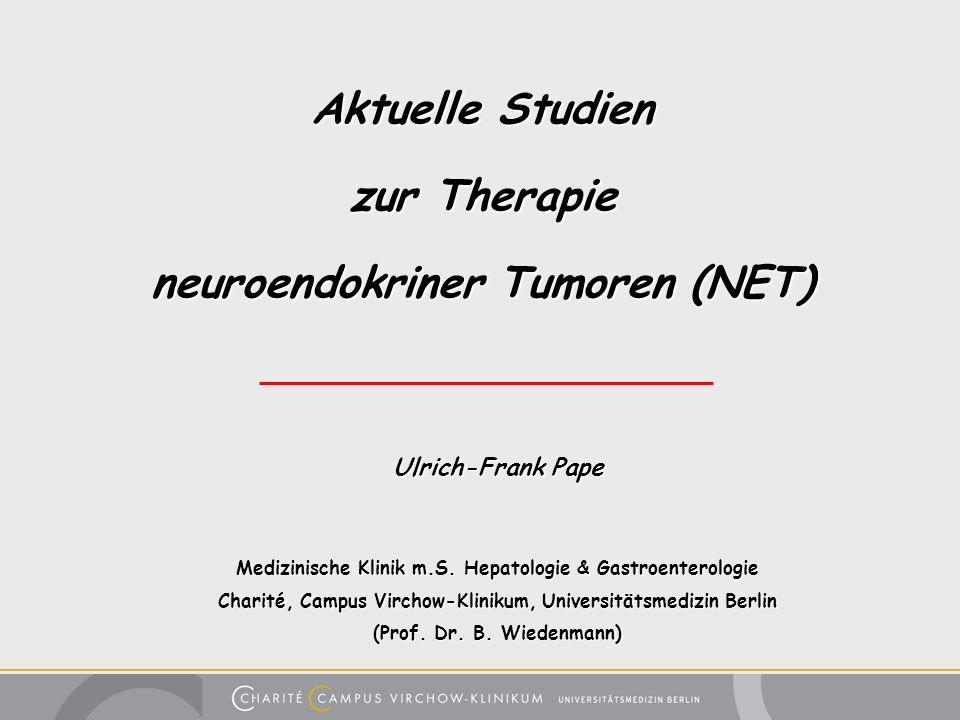 Aktuelle Studien zur Therapie neuroendokriner Tumoren (NET)