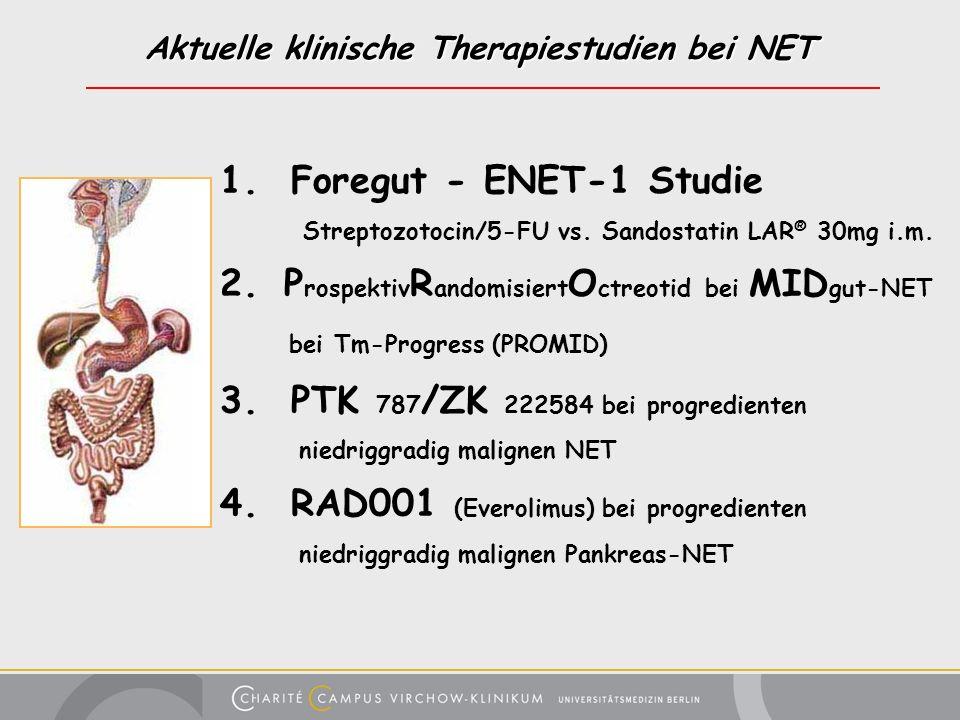 Aktuelle klinische Therapiestudien bei NET