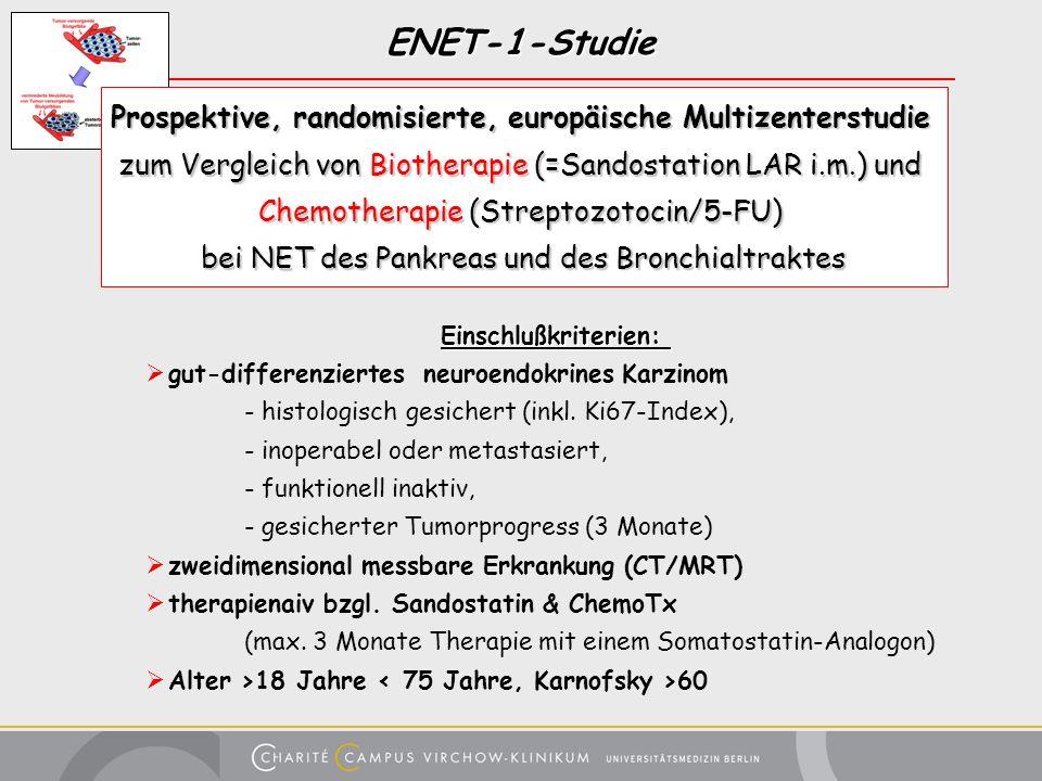 ENET-1-StudieProspektive, randomisierte, europäische Multizenterstudie. zum Vergleich von Biotherapie (=Sandostation LAR i.m.) und.