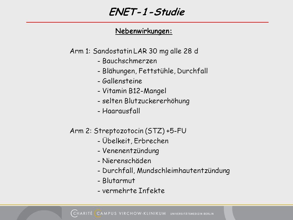 ENET-1-Studie Nebenwirkungen: Arm 1: Sandostatin LAR 30 mg alle 28 d