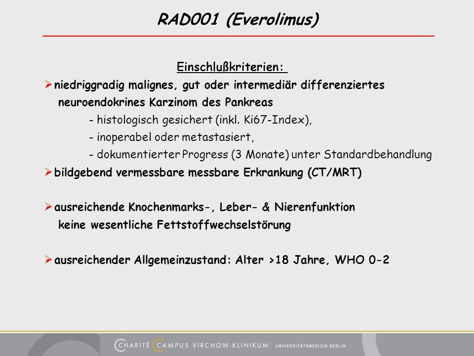 RAD001 (Everolimus) Einschlußkriterien: