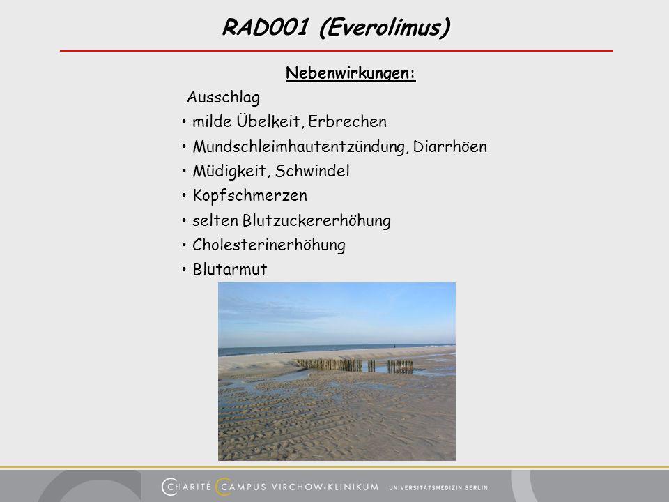 RAD001 (Everolimus) Nebenwirkungen: Ausschlag