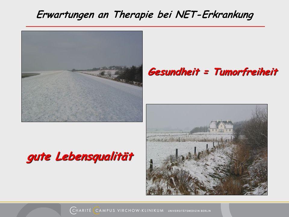 Erwartungen an Therapie bei NET-Erkrankung
