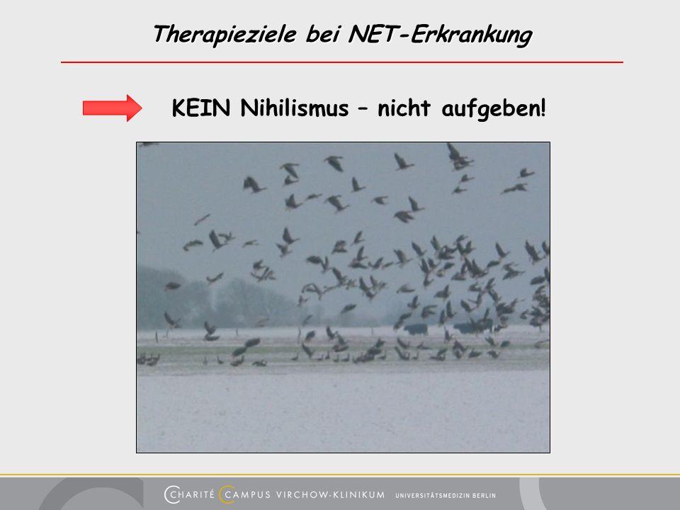 Therapieziele bei NET-Erkrankung