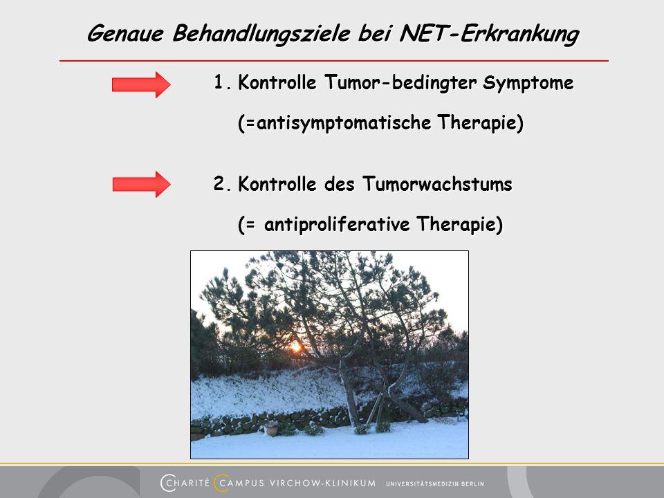 Genaue Behandlungsziele bei NET-Erkrankung