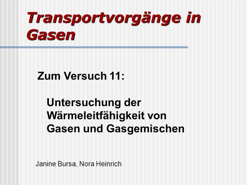 Transportvorgänge in Gasen