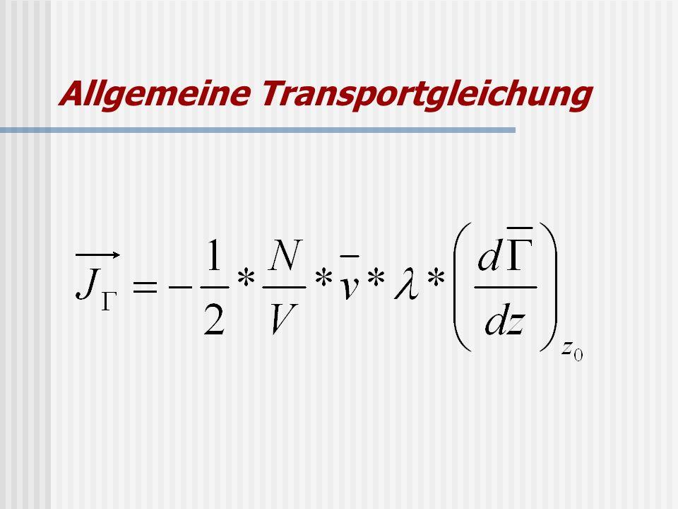 Allgemeine Transportgleichung