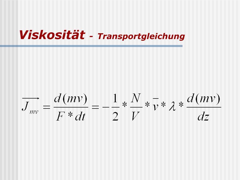 Viskosität - Transportgleichung
