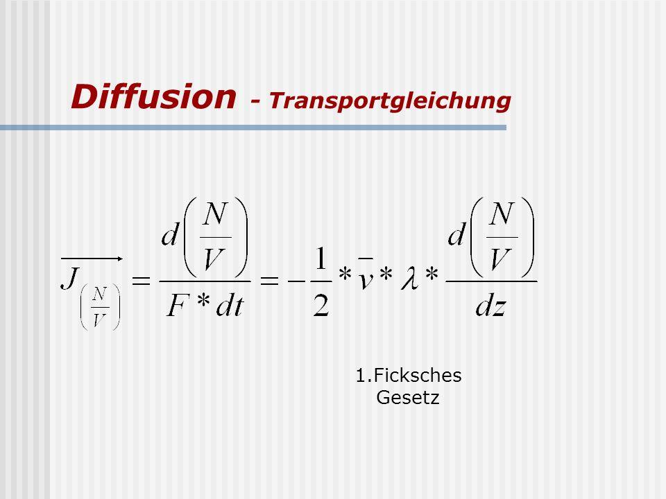 Diffusion - Transportgleichung