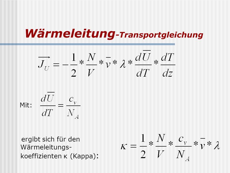 Wärmeleitung-Transportgleichung