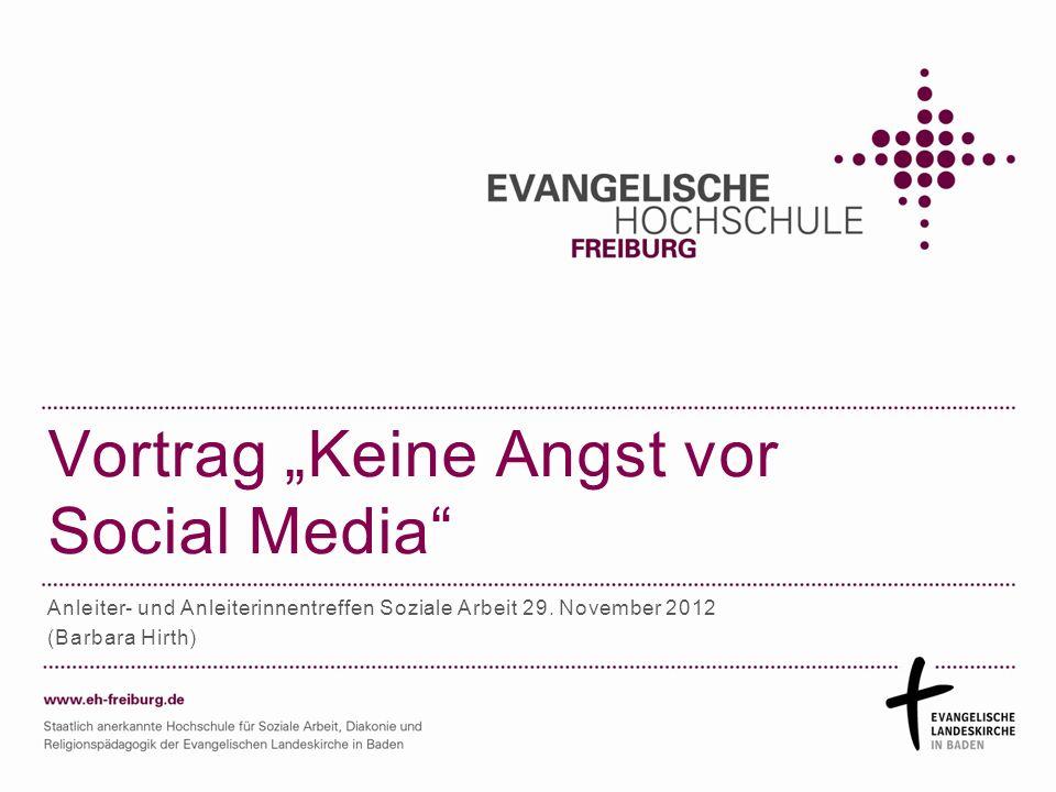 """Vortrag """"Keine Angst vor Social Media"""