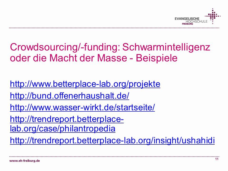 Crowdsourcing/-funding: Schwarmintelligenz oder die Macht der Masse - Beispiele