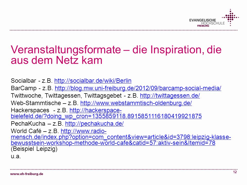 Veranstaltungsformate – die Inspiration, die aus dem Netz kam
