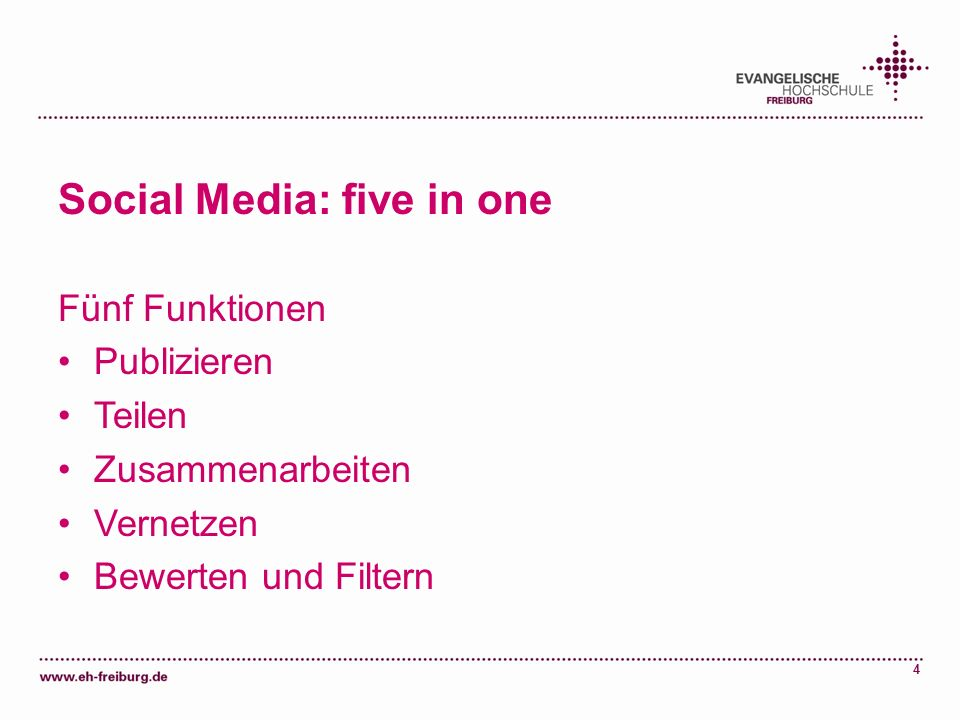 Social Media: five in one