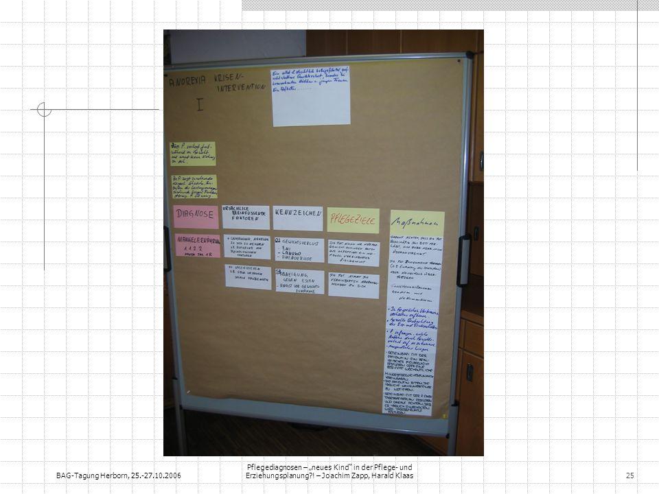 """BAG-Tagung Herborn, 25.-27.10.2006 Pflegediagnosen – """"neues Kind in der Pflege- und Erziehungsplanung ."""